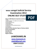 Wes Bengal Judicial Service Exam 2012 Coaching Solved Papers