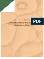 Licitacion privada Construcción Cihde