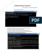 Tugas Praktikum Database Terdistribusi