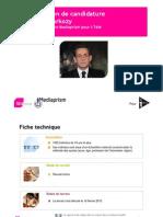 Les Français et la candidature de N. Sarkozy à l'élection présidentielle de 2012