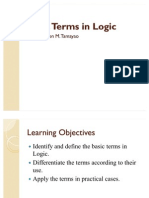 Basic Terms in Logic2