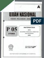 Matematika 2008-2009 A