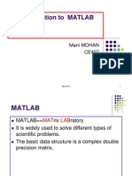 Lecture on Introduction to MATLAB