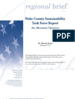 Regional Brief 85 Wake County Sustainability Task Force Report