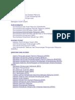 Senarai Kementerian Jabatan Berkanun