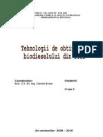Obtinerea Biodieselului Din Soia