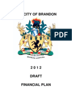 City of Brandon draft financial plan (2012 version) for March 5 public hearing