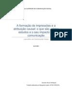 A formação de impressões e a atribuição causal