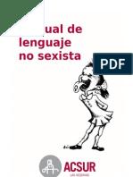 Manual de Lenguaje No Sexista