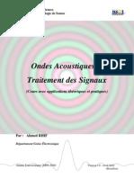 Traitement de Signal Acoustique (Cours et Applications)