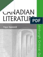 Canadian Literature Edinburgh Critical Guides to Literature