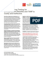 Fact Sheet_Drug Testing for Public Benefits and TANF