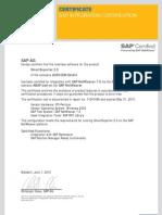 Abap Add on Certificate
