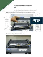 (Manual de Manipulación de Impresora Matricial)