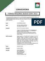 Convocatoria Regional 2012