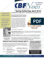 March 2012 KBF Newsletter