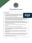 Labor Department Budget Proposal