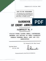 52183493 Handbook of Enemy Ammunition Pamphlet 7 UK 1943