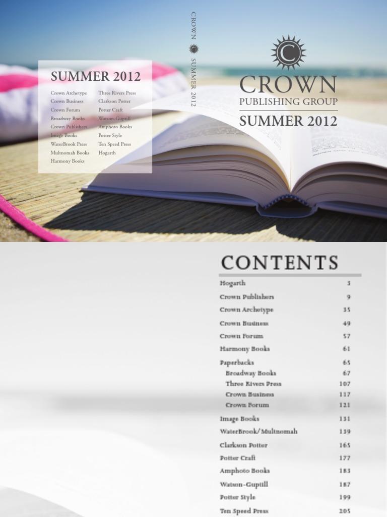 crown publishing group summer 2012 catalog romance novels unrest