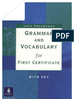 Grammar and Vocabulary for First Certificate