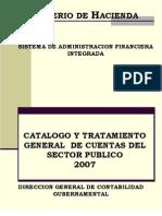 Catalogo y Tratamiento de Cuentas Del Sector Publico 2007