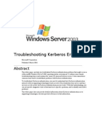 Troubleshooting Kerberos Errors