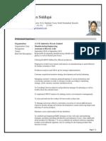 CV Zohaib Siddiqui