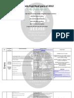 Agenda Espiritual Para 2012-HDB