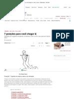 7 posições para você chegar lá - Amor e Sexo - Mdemulher - Ed