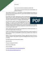 Carta Juan a Las Organizaciones Internacionales