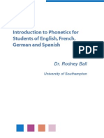 Introduction to Phonetics for Students of English, French, German and Spanish