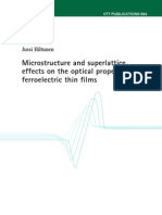 Jussi Hiltunen- Microstructure and superlattice effects on the optical properties of ferroelectric thin films