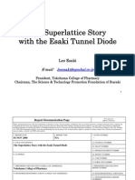 Leo Esaki- The Superlattice Story with the Esaki Tunnel Diode