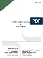 Fiber Optic Magnetic Field Sensors