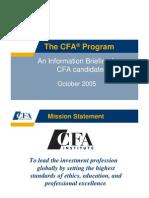 CFA Info Brief