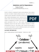Alcohol Metabolism and Its Dependence