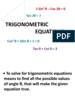 2nd Lesson in Trigonometric Equations