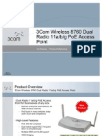 3Com Wireless 8760 Dual Radio 11abg PoE AP