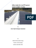 Pre-Feasibility Study for Roof PV Power System