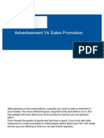 Advertisement vs Sales Promotion