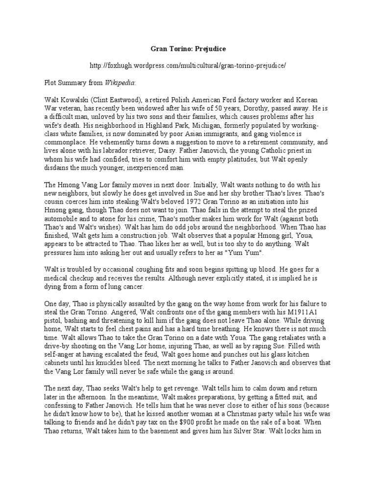gran torino critical essay Gran torino movie essay on studybaycom - psychology, essay - shanaya, id - 298245.