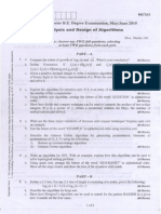 analysis and design of algorithm paper 4