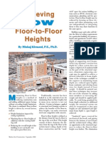 Achieving Low Floor to Floor Heights