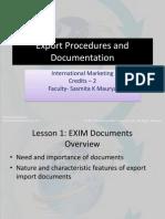 Export Procedures and Documentation 1,2