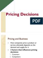 Pricing Decision Report