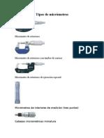 Tipos de Micrómetros