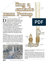 Hydraulic Water Ram Pump - No Electricity Required - Plans -Homemade - Alternative Energy