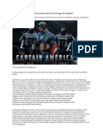 Captain America the First Avenger Worksheet