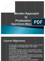 Modern Approaches to Production & Operations Management
