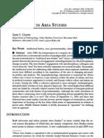 Guyer Jane Anthropology in Area Studies 2004